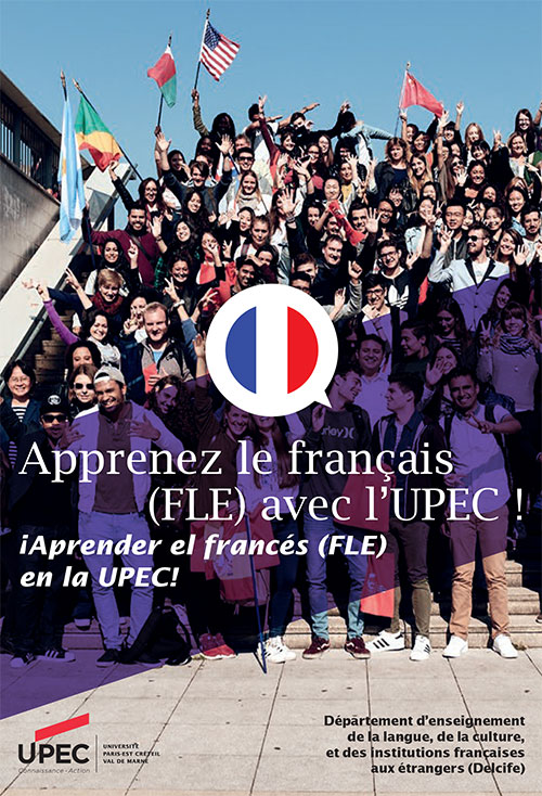 """Leaflet """"Learn french (FLE) with UPEC (spanish version)"""