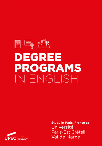 Degree programs in english at UPEC