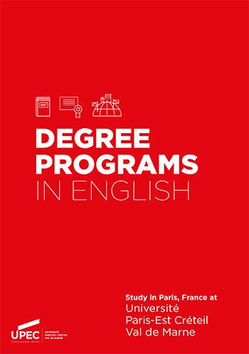UPEC - Degree programs in english
